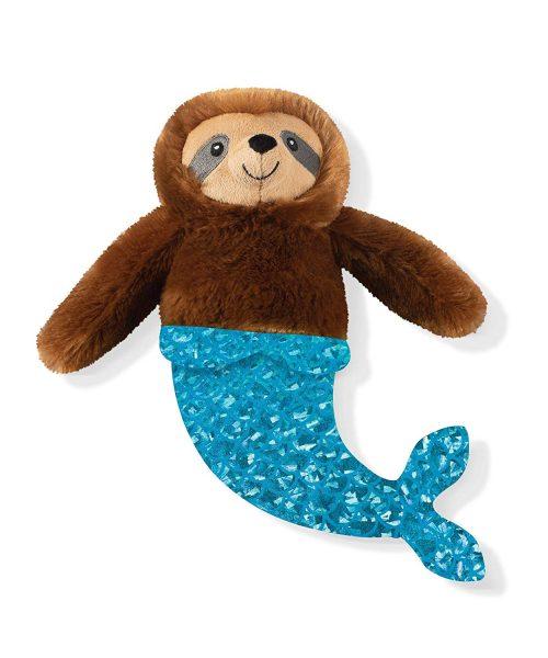 mermaid sloth dog toy